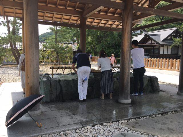 元伊勢籠神社の手水舎