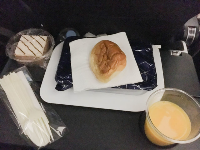 カンタス航空の機内食