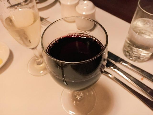トラムカーレストランのワイン