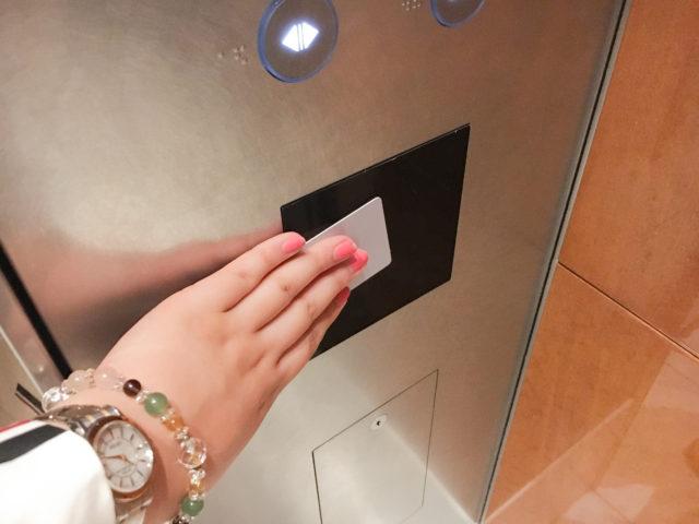 エクシブ芦屋のエレベーター
