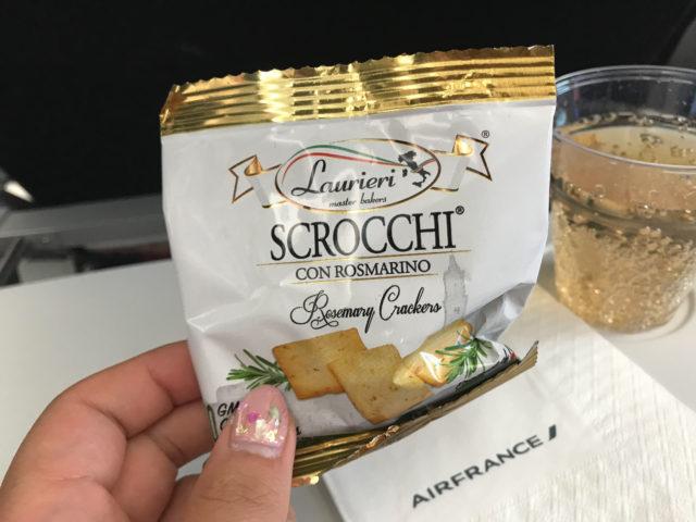 エールフランスの機内食