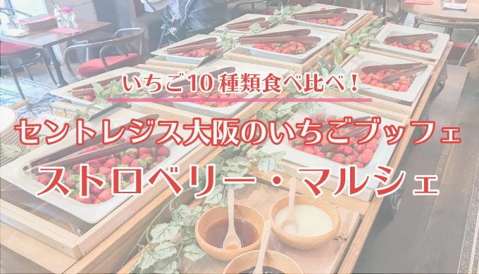 <いちご10種類食べ比べ>セントレジス大阪のいちごブッフェ「ストロベリー・マルシェ」に行ってきた!