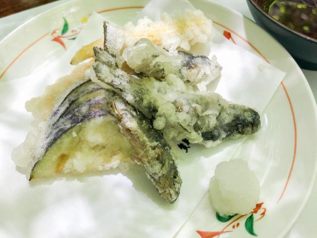 川床料理_仲よしの天ぷら