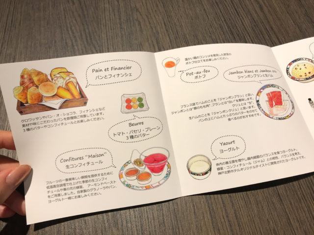 北野ホテル朝食メニュー