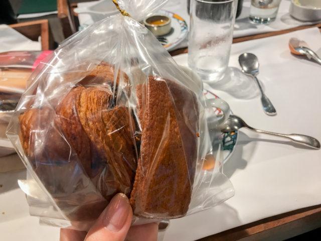 北野ホテルの朝食のあまったパン